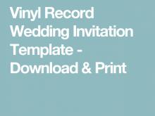 82 Online Vinyl Record Wedding Invitation Template for Ms Word by Vinyl Record Wedding Invitation Template