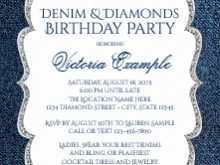 82 Report Denim Party Invitation Template Now with Denim Party Invitation Template