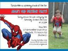 82 The Best Birthday Invitation Template Spiderman Layouts with Birthday Invitation Template Spiderman