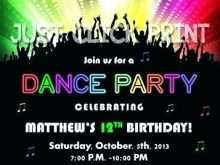 82 The Best Dance Party Invitation Template Now by Dance Party Invitation Template