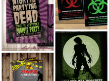 82 The Best Zombie Birthday Invitation Template Formating by Zombie Birthday Invitation Template