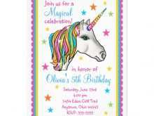 Birthday Invitation Template Unicorn