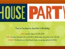 83 Creative House Party Invitation Template With Stunning Design with House Party Invitation Template
