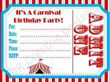 83 Customize Our Free Circus Birthday Invitation Template Free Photo by Circus Birthday Invitation Template Free