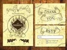 Harry Potter Wedding Invitation Template