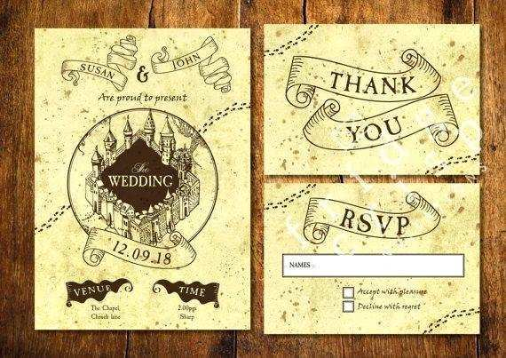 83 Format Harry Potter Wedding Invitation Template Photo for Harry Potter Wedding Invitation Template