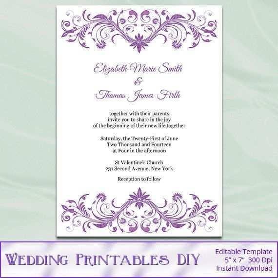 83 Format Wedding Invitation Templates Violet Photo by Wedding Invitation Templates Violet