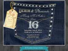 83 How To Create Denim Party Invitation Template Download by Denim Party Invitation Template