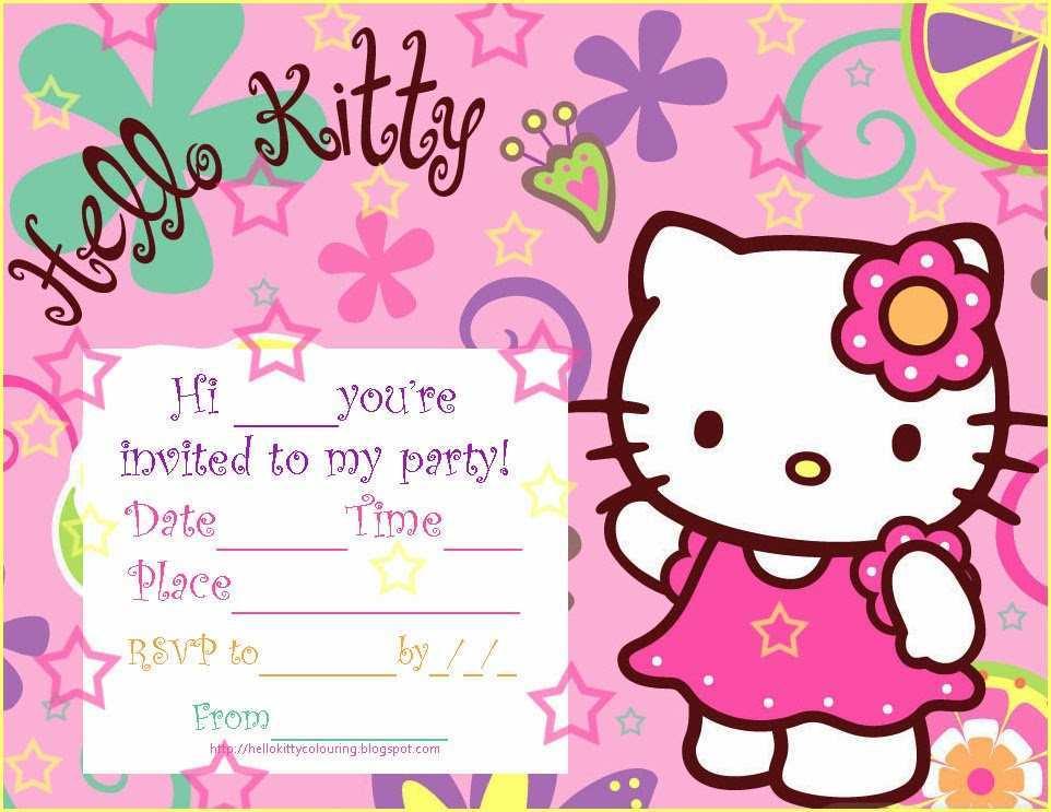 83 How To Create Hello Kitty Blank Invitation Template Now with Hello Kitty Blank Invitation Template