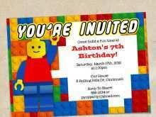 83 How To Create Lego Birthday Party Invitation Template Now with Lego Birthday Party Invitation Template