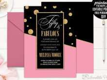 83 Online Birthday Invitation Template Rose Gold Download with Birthday Invitation Template Rose Gold