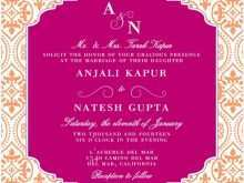 83 Report Indian Wedding Invitation Template in Photoshop for Indian Wedding Invitation Template