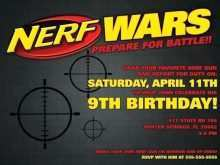 Nerf Birthday Invitation Template Free