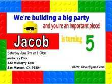 83 Visiting Lego Party Invitation Template Free in Word with Lego Party Invitation Template Free