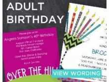 84 Creative Adults Birthday Invitation Template Photo with Adults Birthday Invitation Template