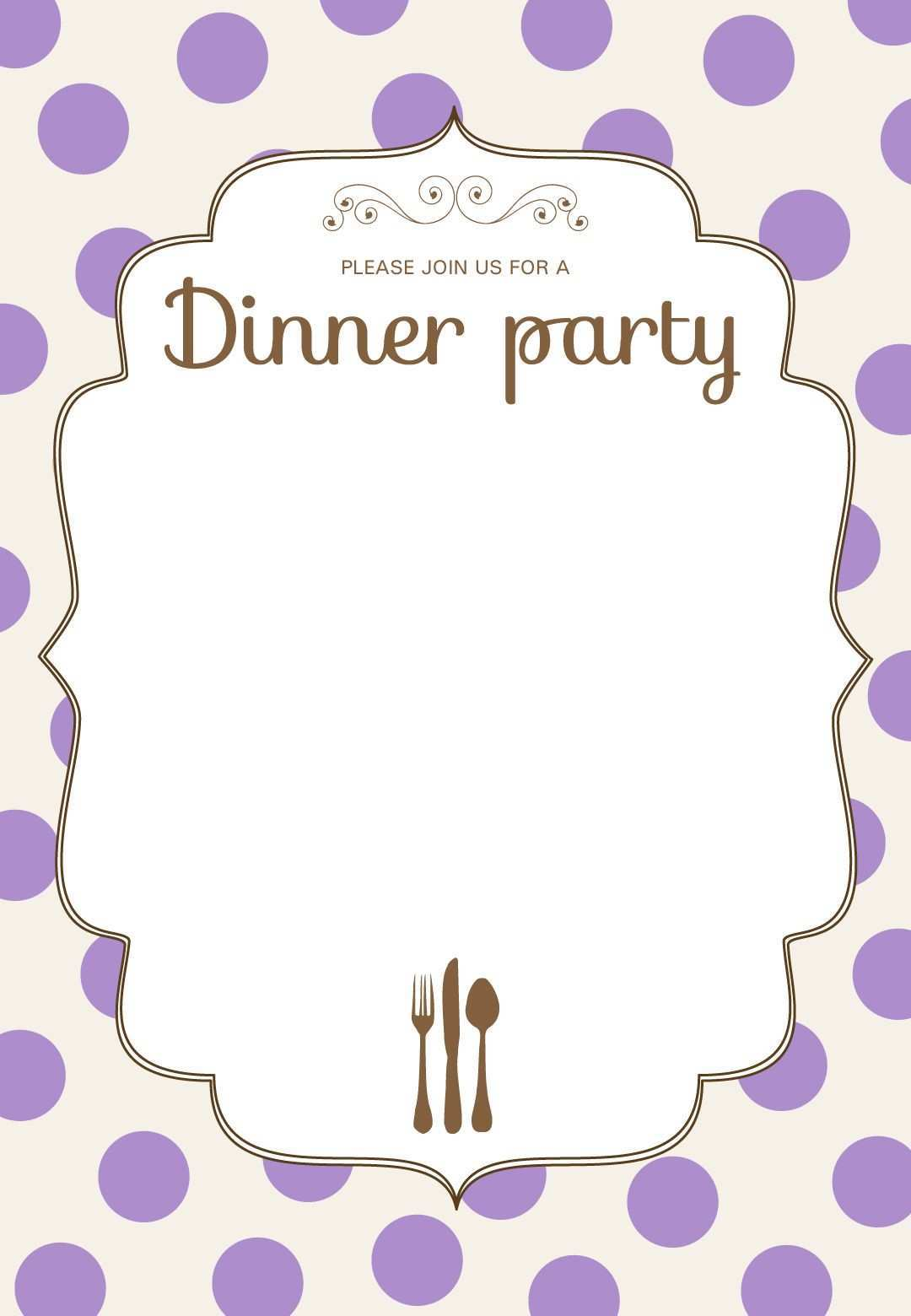 84 Customize Our Free Blank Dinner Invitation Template in Word by Blank Dinner Invitation Template