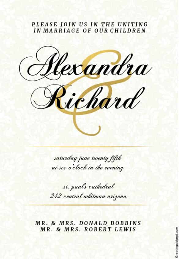 84 Customize Our Free Civil Wedding Invitation Template For Free by Civil Wedding Invitation Template