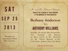 84 Customize Ticket Wedding Invitation Template Free Photo By Ticket Wedding Invitation Template Free Cards Design Templates