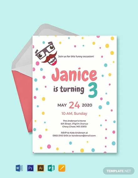 84 Free Party Invitation Template Adobe Maker for Party Invitation Template Adobe
