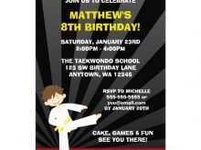 84 Free Printable Karate Party Invitation Template in Word with Karate Party Invitation Template