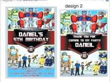 84 How To Create Transformers Birthday Invitation Template Formating with Transformers Birthday Invitation Template
