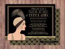 84 The Best Great Gatsby Party Invitation Template Free Formating with Great Gatsby Party Invitation Template Free