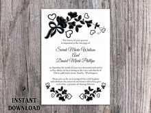 84 Visiting Blank Wedding Invitation Templates Black And White Formating by Blank Wedding Invitation Templates Black And White