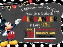 84 Visiting Mickey Mouse Blank Invitation Template Layouts by Mickey Mouse Blank Invitation Template