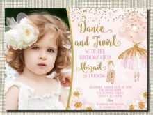 85 Adding Ballerina Birthday Invitation Template Free in Photoshop for Ballerina Birthday Invitation Template Free