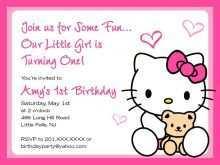 85 Best Hello Kitty Birthday Invitation Template Free Layouts with Hello Kitty Birthday Invitation Template Free