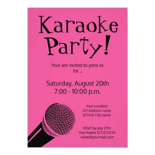 85 Creative Karaoke Party Invitation Template in Photoshop for Karaoke Party Invitation Template