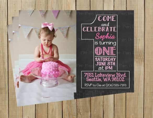 85 Customize Our Free 1St Birthday Invitation Template Vector Download by 1St Birthday Invitation Template Vector