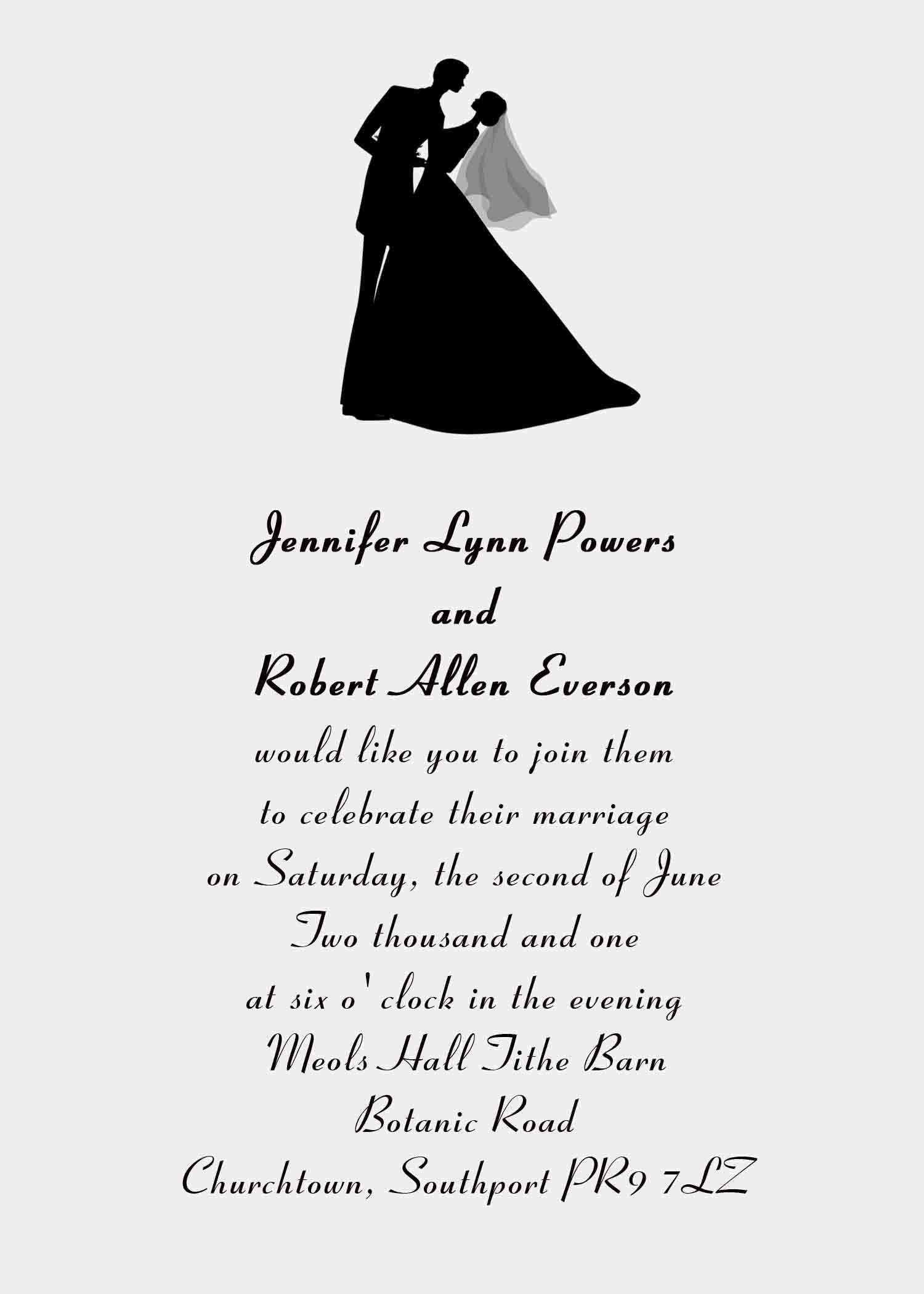 85 Format Reception Invitation Wordings By Bride And Groom Templates with Reception Invitation Wordings By Bride And Groom