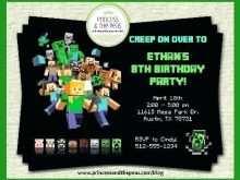 85 Free Printable Birthday Invitation Template Minecraft for Ms Word by Birthday Invitation Template Minecraft