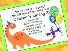 85 How To Create Blank Dinosaur Invitation Template Formating with Blank Dinosaur Invitation Template