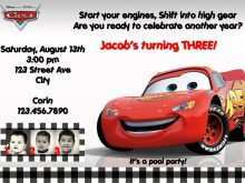 85 Online Disney Cars Birthday Invitation Template Free in Word by Disney Cars Birthday Invitation Template Free