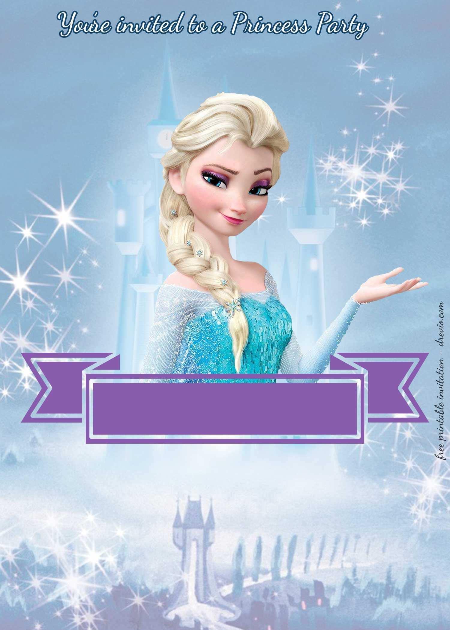 Frozen Invitations Template Free from legaldbol.com