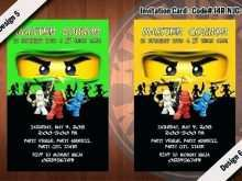 85 Report Ninjago Party Invitation Template PSD File with Ninjago Party Invitation Template