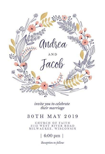 85 Visiting Design Your Own Wedding Invitation Template Formating for Design Your Own Wedding Invitation Template