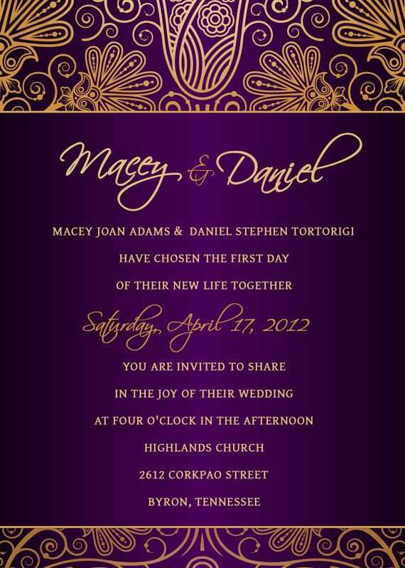 86 Blank Wedding Invitation Templates Violet Formating for Wedding Invitation Templates Violet