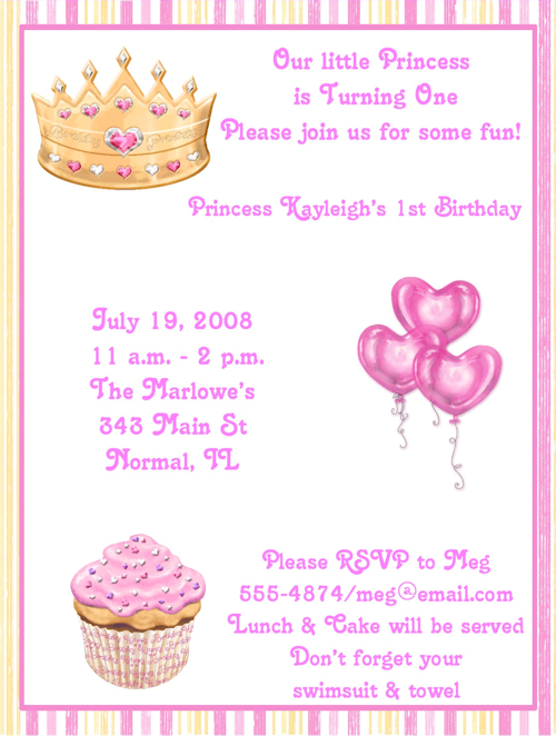 86 Creating Princess Birthday Invitation Template Formating by Princess Birthday Invitation Template