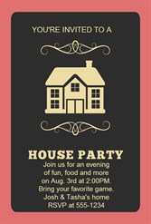 86 Customize House Party Invitation Template Formating by House Party Invitation Template