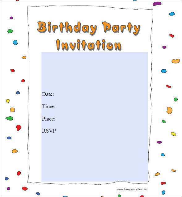 86 Customize Our Free Birthday Party Invitation Template Printable for Ms Word by Birthday Party Invitation Template Printable
