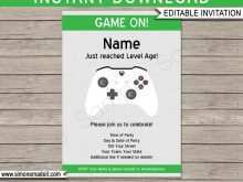 86 Format Video Game Party Invitation Template PSD File with Video Game Party Invitation Template