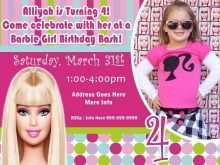 86 Free Birthday Invitation Barbie Template Now by Birthday Invitation Barbie Template
