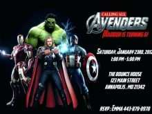 86 How To Create Avengers Party Invitation Template in Word for Avengers Party Invitation Template