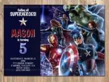 86 Standard Avengers Party Invitation Template Layouts with Avengers Party Invitation Template