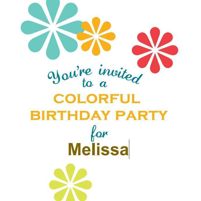 87 Creating Birthday Party Invitation Template Printable for Ms Word by Birthday Party Invitation Template Printable