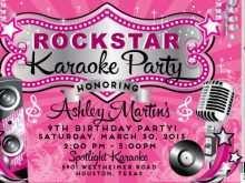 87 Creative Karaoke Party Invitation Template PSD File for Karaoke Party Invitation Template