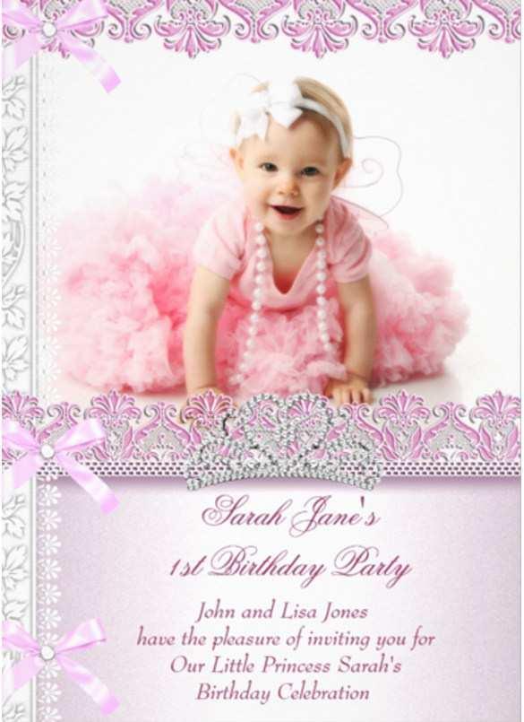 Invitation Card For 1st Birthday